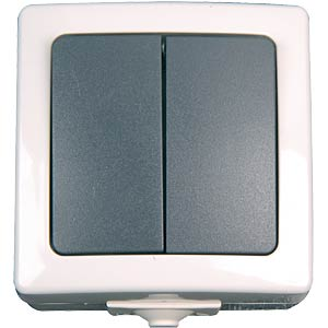 Surface-mounted wet room switch, series switch KOPP 5655.5600.8