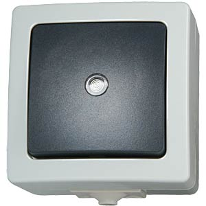 Surface-mounted wet room switch, intermediate switch KOPP 5657.5600.4