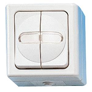 Wet room blind switch, reverse lock KOPP 5615.0200.5