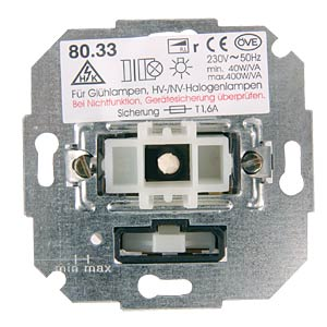 Flush-fitted switch, dimmer insert 20 - 275 VA HK KOPP 8072.0000.7