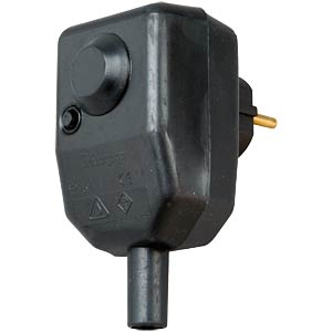 Personal protection plug, IP 54, rubber housing KOPP 1761.0801.6
