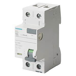 Fehlerstromschutz-Schalter, 25 A, 30 mA, 2 polig SIEMENS 5SV3312-6
