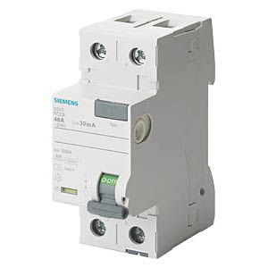 FI circuit breaker, 25A, 2-pin, 30mA SIEMENS 5SV3312-6