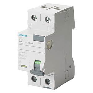 Fehlerstromschutz-Schalter, 40 A, 30 mA, 2 polig SIEMENS 5SV3314-6