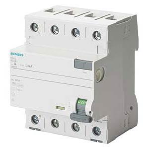 Fehlerstromschutz-Schalter, 40 A, 30 mA, 4 polig SIEMENS 5SV3344-6KL
