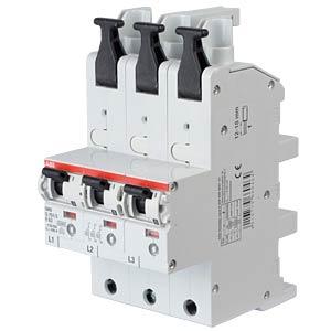 Hauptsicherungsautomat - selektiv, 3 x 1-pol, 63 A ABB S751/3-E63