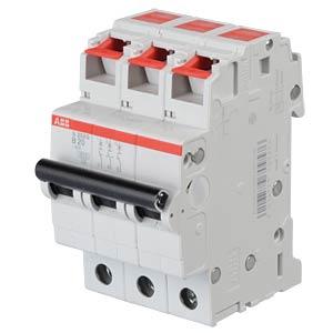 Automatic circuit breaker, 3-pin, characteristic B, 20A ABB 458372