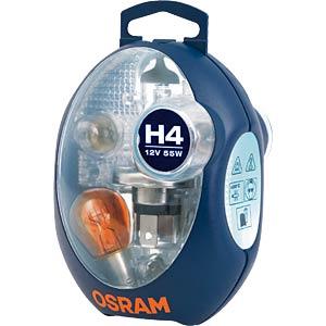 Kfz-Beleuchtungsset, H1, Ersatzlampenbox, P14,5s OSRAM CLK H1 EURO