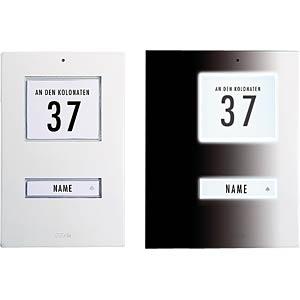 Aufputz-Klingeltaster, 1-reihig, Aluminium weiß M-E KT 1 AW