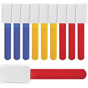 Mini hook-and-loop ties, 10-pc set — mixed colours LABEL THE CABLE LTC 2530