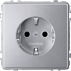Aquadesign Steckdose, erhöhter BRS, aluminium MERTEN MEG2300-7260