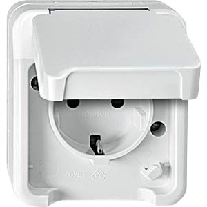 Steckdose mit Berührungsschutz - AQUASTAR, polarweiß MERTEN MEG2300-8019
