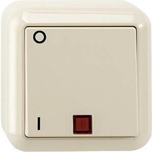 Aus-Kontrollschalter - 2-polig, weiß, AUFPUTZ MERTEN MEG3102-8744