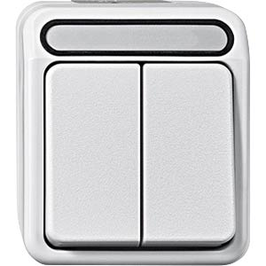 Aquastar, Serienschalter, 1-polig, polarweiß MERTEN MEG3115-8019