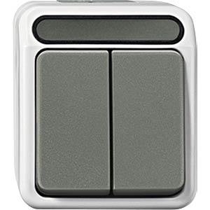 Aquastar, Serienschalter, 1-polig, lichtgrau MERTEN MEG3115-8029