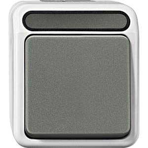 Aquastar, Kreuzschalter, 1-polig, lichtgrau MERTEN MEG3117-8029