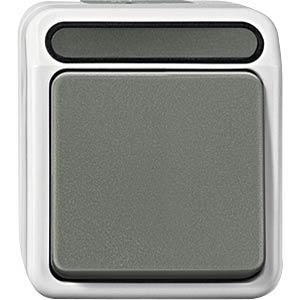 Taster mit N-Klemme - Aquastar, Wechsel, 1-pol, lichtgrau MERTEN MEG3156-8029