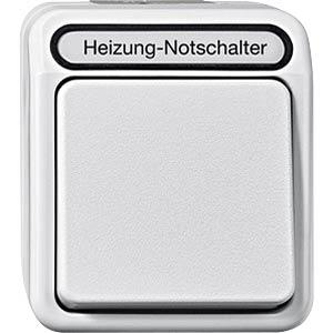 Aquastar, Heizung Notschalter, 1-polig, polarweiß MERTEN MEG3448-8019