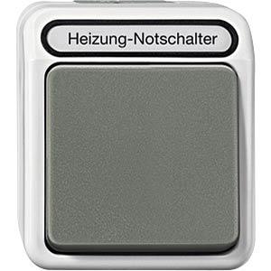 Aquastar, Heizung Notschalter, 1-polig, lichtgrau MERTEN MEG3448-8029