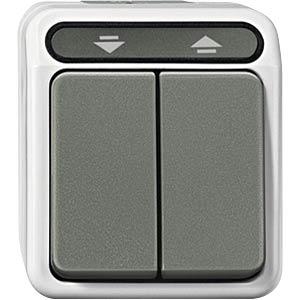Aquastar Rollladenschalter, 1-pol, lichtgrau MERTEN MEG3715-8029