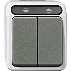 Aquastar, Rolladentaster, 1-polig, lichtgrau MERTEN MEG3755-8029