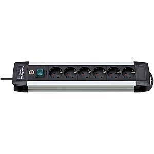 6-fach Aluminium-Steckdosenleiste, Premium-Line BRENNENSTUHL 1391000016