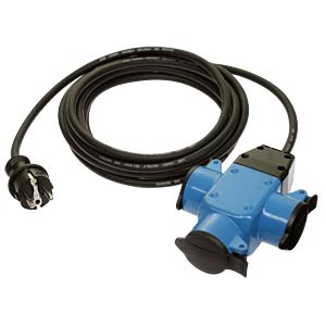 5-m extension lead with three-gang socket block ALTHOFF 131205R