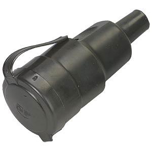 Hard-rubber socket, 250V / 10–16A FREI