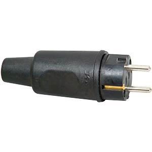 Vollhartgummi-Stecker 250 V / 16 A KOPP 179516054