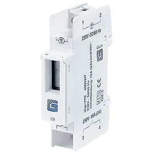 Digital timer clock for standard 35 mm DIN rail. GEV 006287