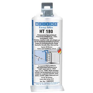 Epoxykleber, Easy-Mix HT180, schwarz, 50 ml WEICON 10650850