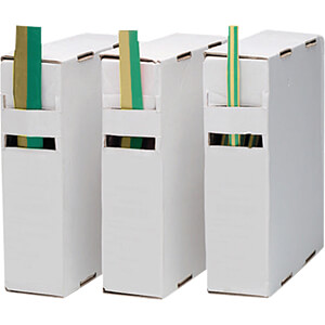 Schrumpfschlauch-Box, 2:1, 9,5 - 4,5 mm, grün/gelb, 10 m RND COMPONENTS RND 465-00293