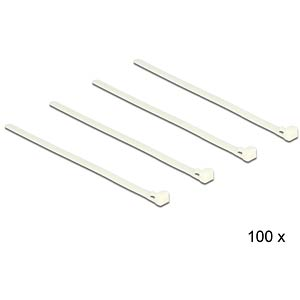 Cable ties releasable white L 200 x W 7.2 mm 100 pieces DELOCK 18639