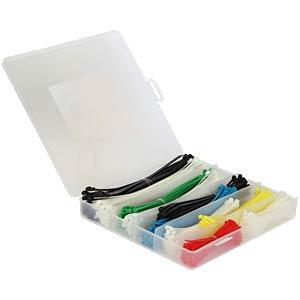 Kabelbinder Sortiment - 600-teilig, farbig, Box DELOCK 18629