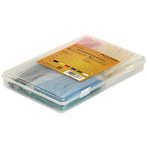 Heat shrink tube box 230 pieces assorted colours DELOCK 86278