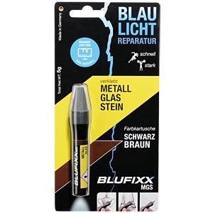 Klebstoff, Nachfüllpack, Metall, Glas, Stein, 5 g, dunkelbraun BLUFIXX CK000003-006