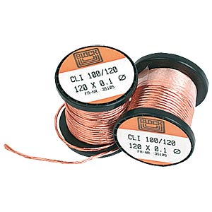 200-g copper stranded wire on coil, strands 90 x 0.1 mm BLOCK TRANSFORMATOREN CLI 200/90