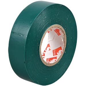 VDE insulating tape, 25 m, width: 19 mm, green FREI