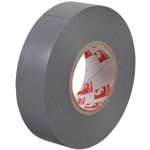 VDE insulating tape, 25 m, width: 19 mm, grey FREI