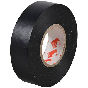 VDE insulating tape, 25 m, width: 19 mm, black FREI