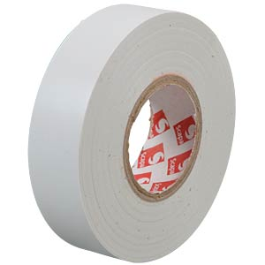 VDE insulating tape, 25 m, width: 19 mm, white FREI