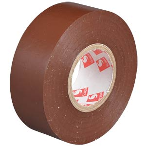 VDE insulating tape, 25 m, width: 25 mm, brown FREI