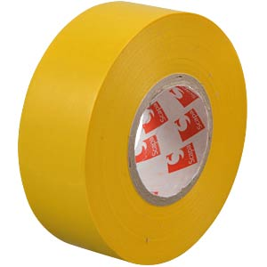VDE insulating tape, 25 m, width: 25 mm, yellow FREI