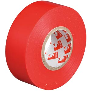 VDE insulating tape, 25 m, width: 25 mm, red FREI