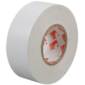 VDE insulating tape, 25 m, width: 25 mm, white FREI