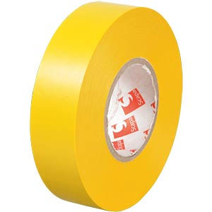 VDE insulating tape, 25 m, width: 19 mm, yellow FREI