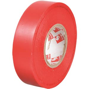 VDE insulating tape, 25 m, width: 19 mm, red FREI