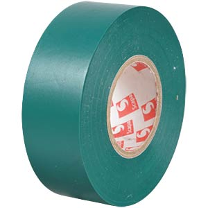 VDE insulating tape, 25 m, width: 25 mm, green FREI