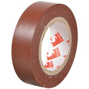 VDE insulating tape, 10 m, width: 15 mm, brown FREI