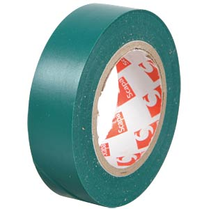 VDE insulating tape, 10 m, width: 15 mm, green FREI